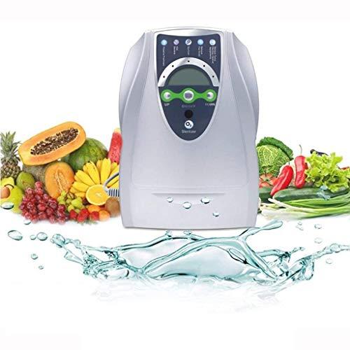 Generador ozono 500 mg / h, Lavadora doméstica de frutas y verduras, Generador ozono portátil purificador aire esterilizador ozono, Purificador aire 220V / 110V Temporizador ozono 8L, Blanco