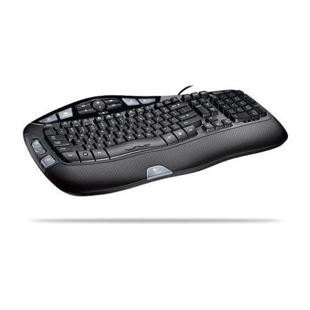 Logitech Wave Keyboard - Teclado (USB, Negro, CD-ROM, 503 x ...