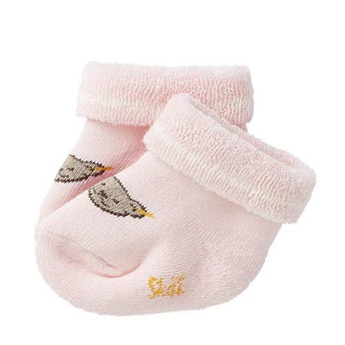 Steiff Baby Mädchen Vollfrottee Socken mit Teddy 17113 (62/68, Rosa)
