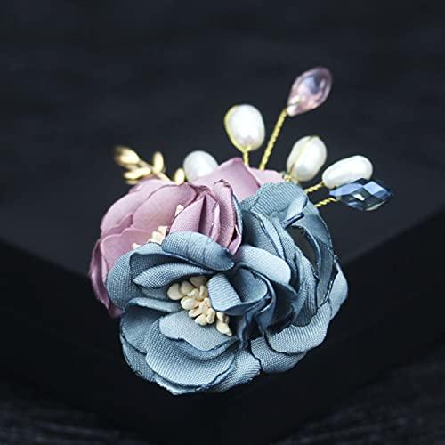 SHUJIA Tela Hecha a Mano Broche de Flores Femenino broches Abrigo Cardigan Pin para Mujeres Vestido de Vestir Traje Accesorios