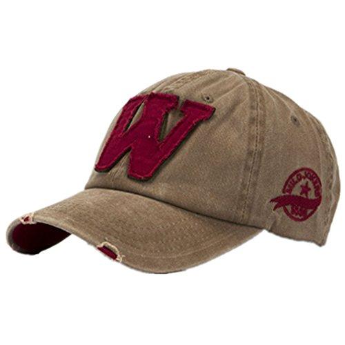 Ularma Moda unisex letra W Hockey béisbol gorras sombreros Hip Hop (Talla única, B)