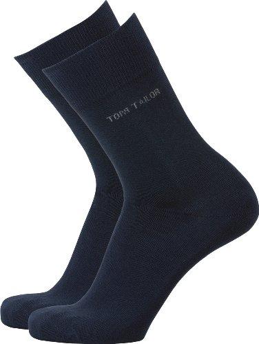TOM TAILOR Socken 2er-Pack Baumwolle dunkelblau Größe 43-46