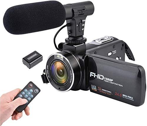 ビデオカメラ CamKing 16倍デジタルズーム デジカメ デジタルカメラ 24.0MP マイク外付け 3.0インチIPS FHD 1080p ポータブルビデオカメラ 予備バッテリーあり 人気 旅行