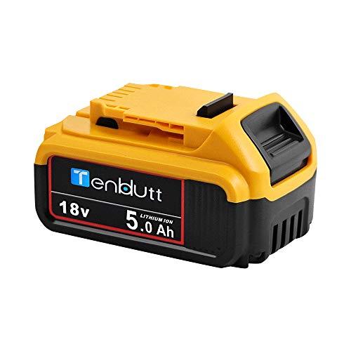 TenHutt 18V 5.0Ah Batería de repuesto para Dewalt DCB184 DCB184B-XJ DCB180 DCB181 DCB182 DCB183 DCB185 Batería de herramienta eléctrica 18V XR