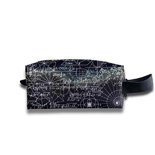 Mathematisch Mit mathematischen Figuren Und Gleichungen Kosmetiktaschen Organizer Tragbare Tasche Trapezförmige Aufbewahrung Kosmetiktasche