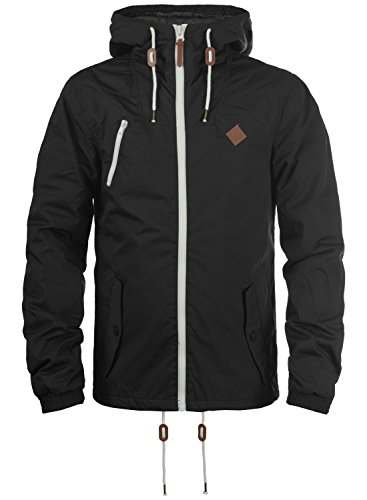 !Solid Tilden Herren Übergangsjacke Herrenjacke Jacke gefüttert mit Kapuze, Größe:XL, Farbe:Black (9000)
