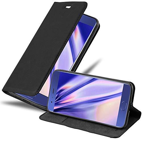 Cadorabo Hülle für Xiaomi Mi 6 in Nacht SCHWARZ - Handyhülle mit Magnetverschluss, Standfunktion & Kartenfach - Hülle Cover Schutzhülle Etui Tasche Book Klapp Style