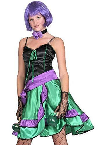 Can Can Can Tina - Disfraz de baile sexy para mujer en el salvaje oeste, estilo de saln de estilo Cancan, tallas 32 34