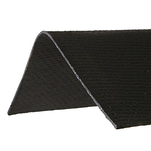 ONDURA 5256 Corrugated Asphalt Roof Ridge Cap, Black