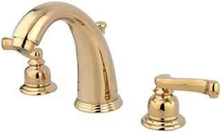 Kingston Brass KB982FL Royale Widespread Lavatory Faucet with Brass Pop-Up, Polished Brass
