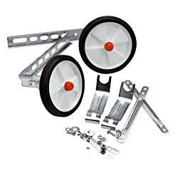 Straighten out any beginners wobbles Suitable for most children's bikes Great value stabilisers are ideal for building confidence in children's as they learn Available in silver colour Fittings included; Easy to fit; To fit wheel size 12 to 20 Inch