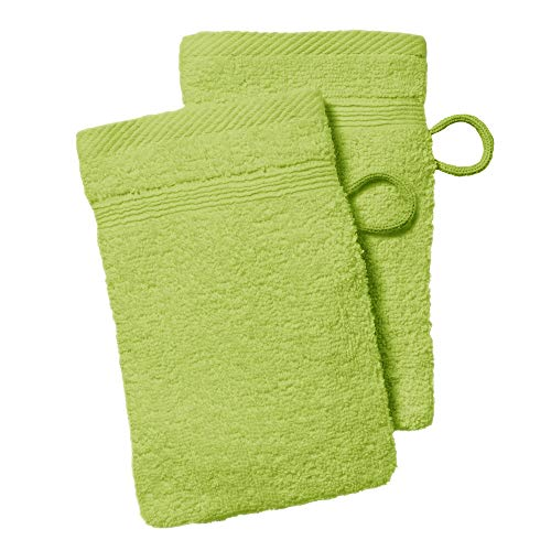 dkdo 2 gants de toilette - 500 gr/m² - 16 x 21 cm - Today