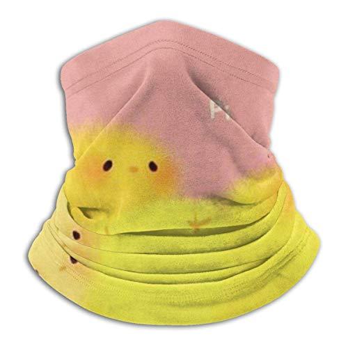 N/A Scaldacollo in pile per neonato Chick - Reversibile scaldacollo per tubo, maschera per cuffia con scalda orecchie versatile