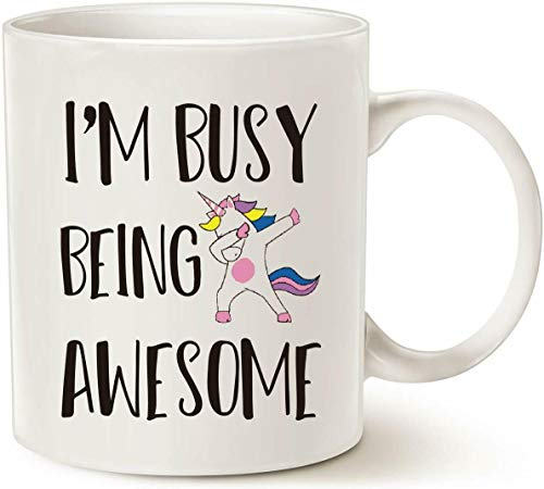 I'm Busy Being Awesome Mug - Funny Quote Saying Coffee Mug - Mug For Friend - 11OZ Coffee Mug