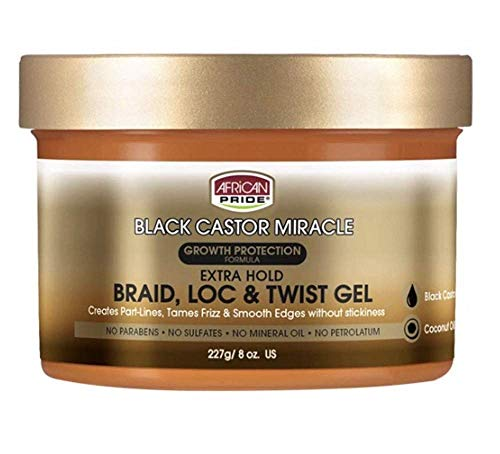 African Pride Black Castor Miracle Extra Hold Braid, Loc and Twist...