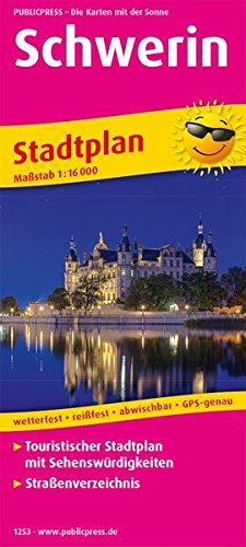 Schwerin: Touristischer Stadtplan mit Sehenswürdigkeiten und Straßenverzeichnis. 1:16000 (Stadtplan: SP)