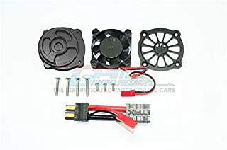 GPM Traxxas Unlimited Desert Racer 4X4 (#85076-4) Upgrade Parts Aluminum Motor Heatsink with Cooling Fan - 1 Set Black
