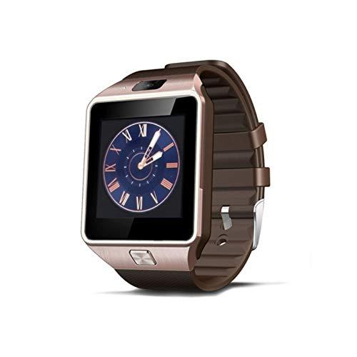 Smart Watch DZ09 con Cámara Bluetooth Wristwatch Relogio Sim Tarjeta Smartwatch para Xiaomi iPhone Samsung Hombres Mujeres (Color : Gold)