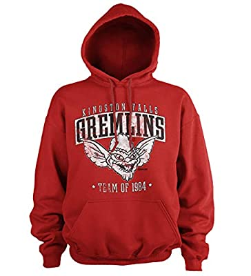 Kingston Falls Gremlins Team of 1984 Hoodie, Red for Adults