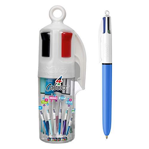 Bic - Juego de bolígrafos 4 en 1 (punta redonda, 6 unidades), varios colores