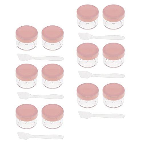 D DOLITY 12 Pcs 15g Pots de Maquillage échantillon Récipient Cosmétique Lotion Crème Gel - Rose, comme décrit