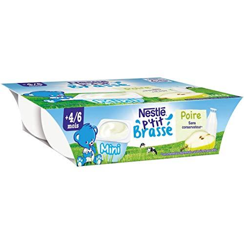 Nestlé Bébé Ptit Brassé mini poire - 6 x 60 g - Des 6 mois
