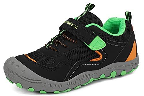 Mishansha Jungen Wanderschuhe Kinder Outdoor Sports Freizeitschuhe Mädchen Laufschuhe Schwarz 32