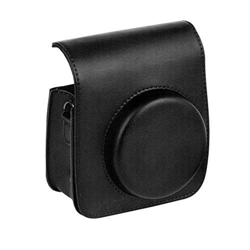 Yiiquanan Mini 90 Retro Sofortbildkamera Schutzhülle Reine Farbe Reise Kameratasche Hülle Abdeckung (Schwarz, One Size)