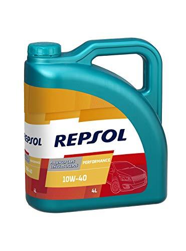 Repsol RP053X54 Performance 10W-40 - Olio motore per auto, colore: Trasparente/Dorato, 4 litri