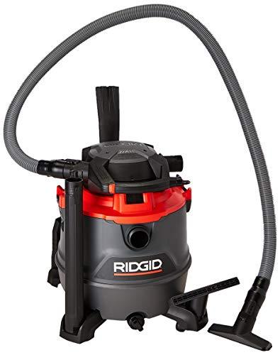 Ridgid RT1600M Aspiradora de Solidos y Líquidos, 6.5 HP, negro con rojo