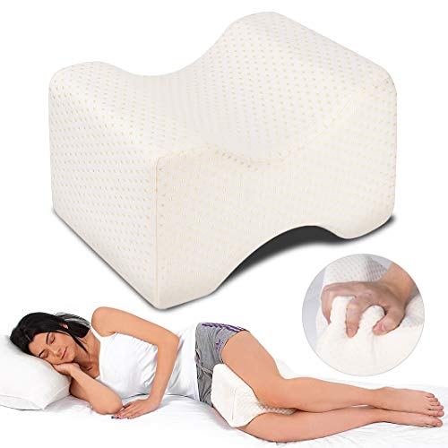 Dioxide Almohadas para piernas para Dormir, Cojín ortopédico para Almohada con de Memoria, Alivia el Dolor de Espalda, Cadera y Articulaciones, Soporte para el Tobillo y la Rodilla