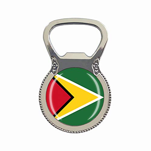 Guyana Flagge Bierflaschenöffner Kühlschrank Magnet Metall Glas Kristall Reise Souvenir Geschenk Heimdekoration