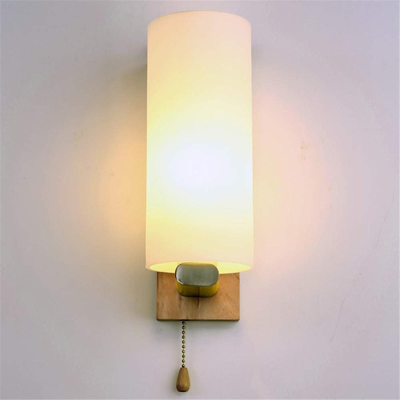 HRCxue Wandleuchten Einfaches modernes festes Holzlampenkrperglas führte Innenwandlampe-Treppengang-Nachttischlampe dekorative Beleuchtung 28  10cm KorrosionsBestendigkeit