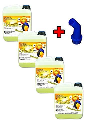 4X 5 Ltr. Vanille Flüssigwaschmittel PE 1,25 € = 1 Ltr. Waschmittel Waschgel Gel Capy Wäsche Waschpulver