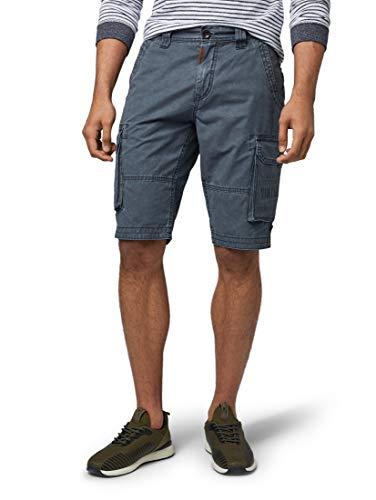 TOM TAILOR für Männer Hosen & Chino Josh Cargo Shorts Blue Grey, 38