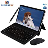 2020 Tablette Tactile 10 Pouces IPS/HD - 3Go RAM 64Go ROM 4G Android 8.1 Tablet PC Quad Core Batterie 8000mAh Tablette 4G Double SIM Double Caméra WiFi,Bluetooth,GPS,OTG (Noir)