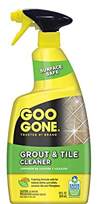 Goo Gone Grout & Tile Cleaner - 28 Ounce - Removes Tough Stains Dirt Caused By Mold Mildew Soap Scum and Hard Water Staining - Safe on Tile Ceramic Porcelain