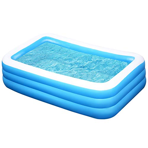 JOYIN Inflatable Kiddie Swimming Pool, Giant-Size Swim Center for Summer Fun, Outdoor Kids/Family Activity
