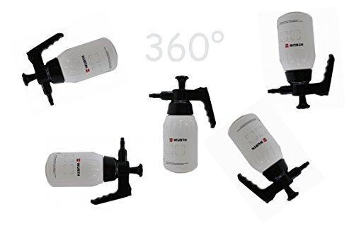 Würth 1 L Botella del aerosol de la bomba Pulverizador Botella de la bomba 360° Trabajo sobre la cabeza