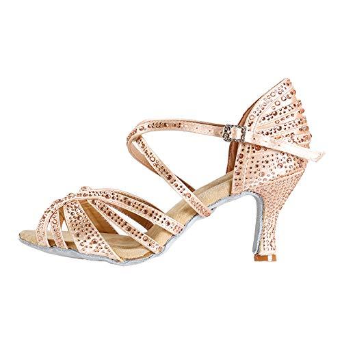 HROYL Zapatos de Baile Latino Mujer Salsa y Bachata Zapatos de Baile...