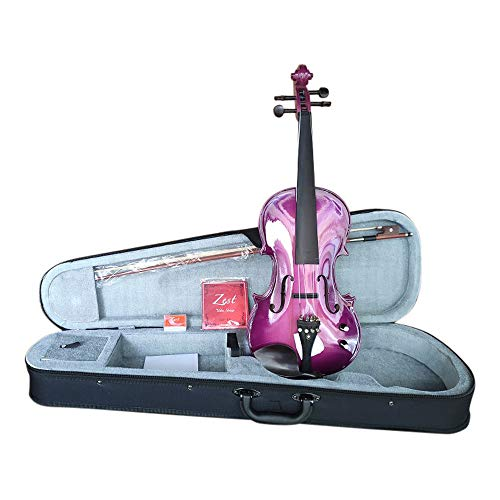 Zest Violins are Stylish, Eye-Catching 4/4 Electro Acoustic Purple Violin...