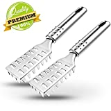 2 PCS Fish Scaler Brush, ABILITH Fish Scaler Remover with Stainless Steel...