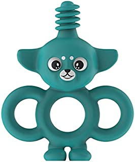Yummy Buddy Infant Training Toothbrush/TEETHER/Toy (3-in-1) - BPA-Free (Turquoise)