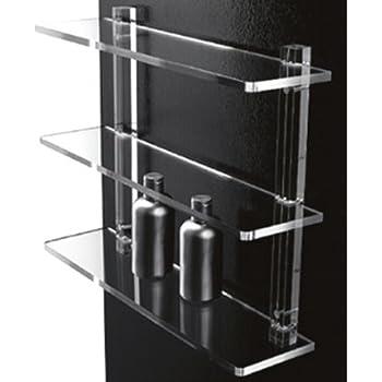 Accessori Per Il Bagno In Plexiglass.Mensole Da Bagno In Plexiglass Con Supporti Trasparenti Arredo Bagno O Cucina Design Amazon It Casa E Cucina