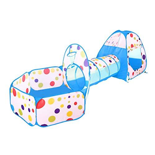 Shjjyp Tienda Pop-up para niños de 3 Piezas Tunnel Kids Discovery Station Juego de Carpas para niños -…