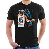 VINTRO Camiseta de Michael Jordan para hombre, diseño de retrato original de Sidney Maurer