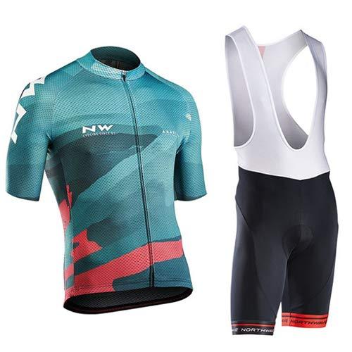 Heren Fietsshirt Korte mouwen Korte broeken Mountainbike/MTB-shirt Ademend Sneldrogend Nauwsluitend Hardlopen Racefietspakken Kleding