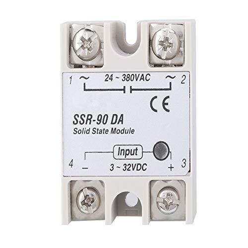 Relés de estado sólido, SSR-90DA Rele de estado solido monofasico DC 3-32V Output AC 24-380V