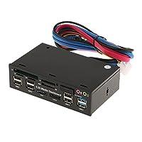 gazechimp フロント パネル メディア ダッシュボード USB3.0 / 2.0 ハブカードリーダー