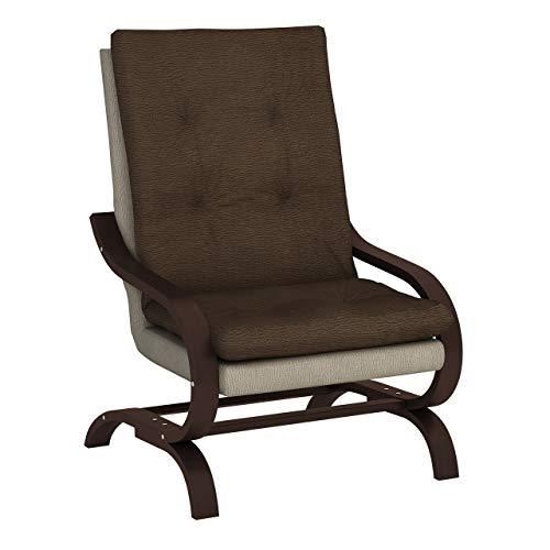 Mirjan24 Sessel Adagio Schwingsessel Relaxsessel Entspannungssessel (Halfa 160 + Halfa 150, Nuss)